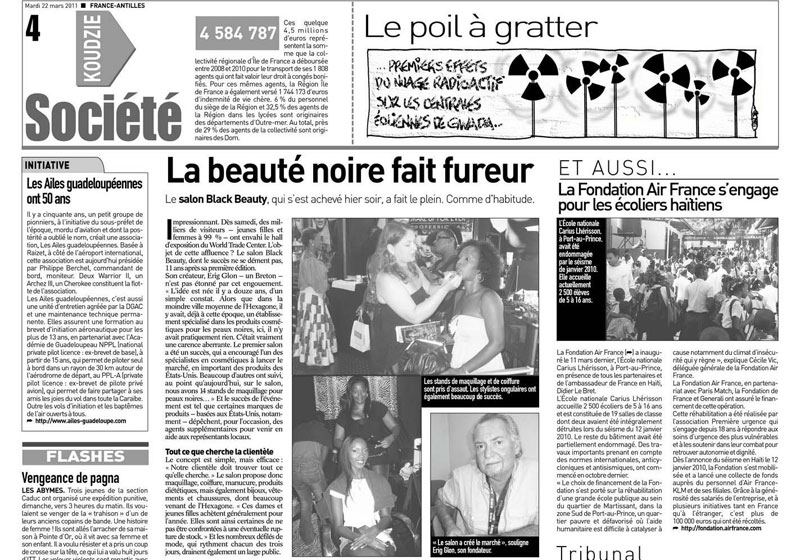 France Antilles - article - 2011.jpg
